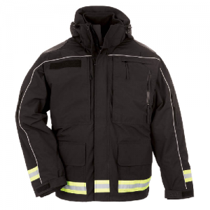 5.11 Tactical Responder Parka Men's Full Zip Coat in Black - X-Large