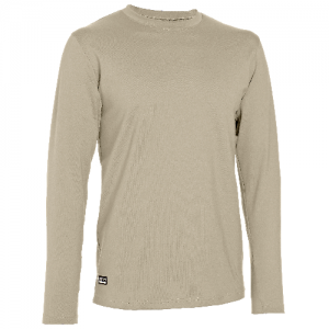 Under Armour Coldgear Infrared Men's Long Sleeve Compression Tee in Desert Sand - Small