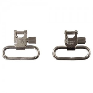"Uncle Mikes 1"" Quick Detach Nickel Sling Swivels For Ruger Autos/Carbines 14622"
