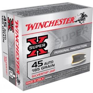 Winchester Super-X .45 ACP Silvertip HP, 185 Grain (20 Rounds) - X45ASHP2