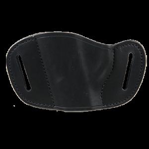 Bulldog MLBLL Belt Slide Large Automatic Handgun Holster Left Hand Leather Black - MLBLL