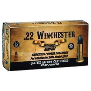 Aguila .22 Winchester Lead Round Nose, 45 Grain (50 Rounds) - 1B222504