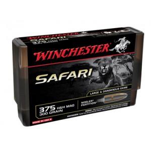 Winchester Supreme Safari .375 H&H Magnum Nosler Partition, 300 Grain (20 Rounds) - S375SLSP