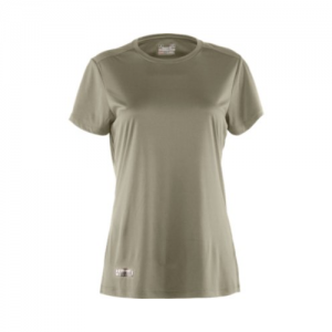 Under Armour HeatGear Women's Long Sleeve Compression Tee in Desert Sand - Large