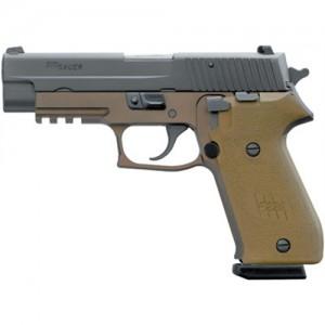 "Sig Sauer P220 Full Size Combat .45 ACP 10+1 4.4"" Pistol in Flat Dark Earth (FDE) (SIGLITE Night Sights) - 22045CPDS"