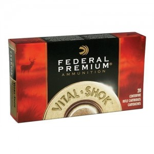 Federal Cartridge Vital-Shok Big Game .338 Winchester Magnum Trophy Bonded Bear Claw, 225 Grain (20 Rounds) - P338T1