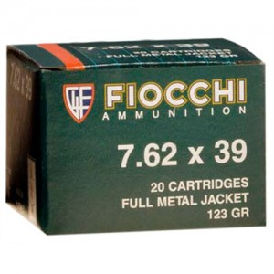 Fiocchi Ammunition 7.62X39 Full Metal Jacket, 123 Grain (20 Rounds) - 762SOVA