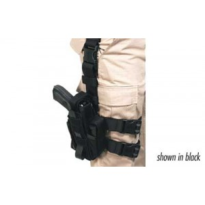 Blackhawk Omega VI Ambidextrous-Hand Multi Holster for Most Handguns in Coyote Tan (W/ Light or Laser) - 40MLH1CT