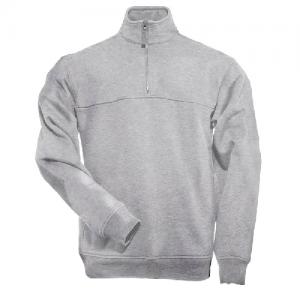 5.11 Tactical Job Shirt Men's 1/4 Zip Jacket in Heather Grey - X-Large