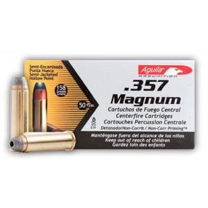 Aguila .357 Remington Magnum Semi Jacketed Hollow Point, 158 Grain (50 Rounds) - 1E572821