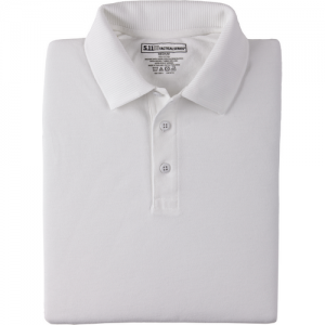 5.11 Tactical Professional Men's Short Sleeve Polo in White - Medium