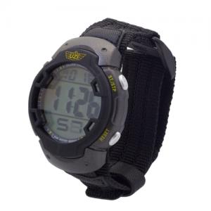 UZI Gaurdian Digital Watch, 5ATM, Alarm Chrono, Back Glow, Stainless Steel Caseback, Nylon Strap