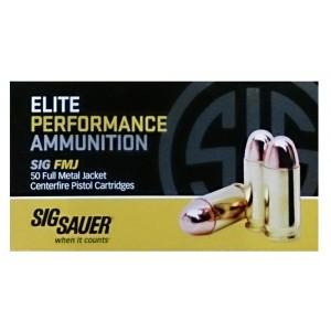 Sig Sauer .45 ACP Full Metal Jacket, 230 Grain (50 Rounds) - E45BA3-50