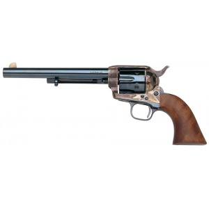 "Taylors & Co 1873 Cattleman .45 Colt 6-Shot 4.7"" Revolver in Charcoal Blue - 555117"