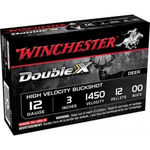 "Winchester Supreme Hi Velocity .12 Gauge (3"") 00 Buck Shot Lead (5-Rounds) - SB12300"