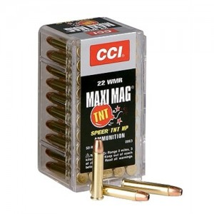 CCI 22 Winchester Magnum Rimfire 30 Grain Jacketed Hollow Point, 50 Round Box, 0063