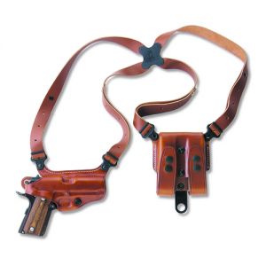 "Galco International Miami Classic II Right-Hand Shoulder Holster for Browning Hi-Power in Tan (4.7"") - MC270"