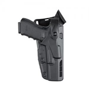 Safariland Low-Ride 7TS ALS Level III Left-Hand Belt Holster for Glock 17, 22 in STX Plain Black (W/ ITI M3) - 7365-832-412