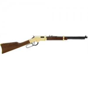 """Henry Repeating Arms Golden Boy Youth .22 Short/.22 Long Rifle 21-Round 20"""" Lever Action Rifle in Brass - H004Y"""