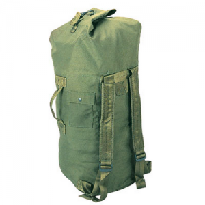 Olive Drab Canvas Top Load Duffle  Size: Small