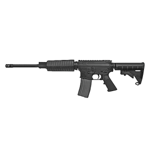 "Olympic Arms Plinker Plus Flat Top .223 Remington/5.56 NATO 30-Round 16"" Semi-Automatic Rifle in Black - PLINKER+ FT"