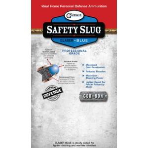 Corbon Ammunition Glaser Safety Slug .357 Sig Sauer Round Nose, 80 Grain (6 Rounds) - 2500