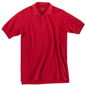 5.11 Tactical Utility Men's Short Sleeve Polo in Range Red - X-Large