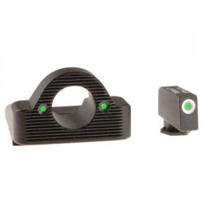 Ameriglo Green Front/Rear Ghost Ring Night Sights For Glock 45/10MM Caliber GL126