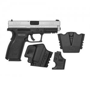 "Springfield XD Service 9mm 16+1 4"" Pistol in Stainless Slide/Black Frame - XD9301HCSP06"