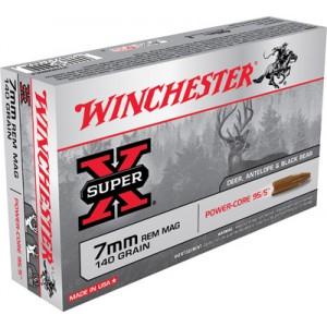 Winchester Super-X 7mm Remington Magnum Power Core, 140 Grain (20 Rounds) - X7MMRMLF