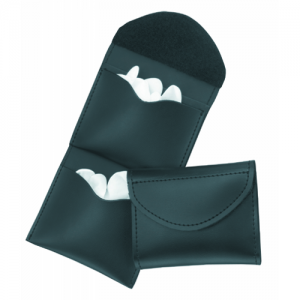 Two Pocket Glove Case  Two Pocket Glove Case Black Finish Place on belt up to 2-1/4 in. or slide into pants pocket.