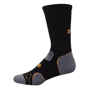 UA Hitch Lite Cushion Boot Socks Color: Black/Blast Size: Large