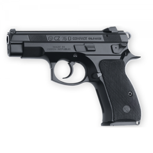 "CZ 75 D PCR 9mm 14+1 3.75"" Pistol in Black - 91194"