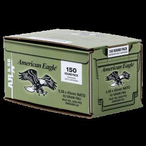 Federal Cartridge American Eagle XM Bulk Pack .223 Remington/5.56 NATO Full Metal Jacket, 62 Grain (150 Rounds) - XM855BK150