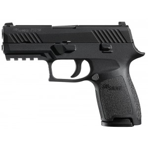 "Sig Sauer P320 Compact .45 ACP 9+1 3.9"" Pistol in Black Nitron (SIGLITE Night Sights) - 320C45BSS"