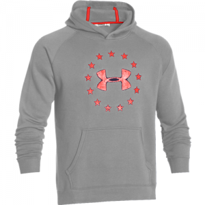 Under Armour Freedom Men's Pullover Hoodie in True Gray Heather/Ultra Blue - Large