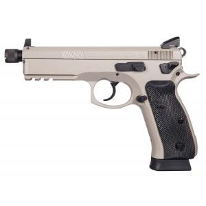 """CZ P-01 9mm 10+1 5.2"""" Pistol in Gray Steel (Tactical) - 1253"""
