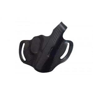 Desantis Gunhide 85 Thumb Break Mini Slide Right-Hand Belt Holster for Glock 17, 19, 20, 21, 22, 23 in Black Leather - 085BAE1Z0