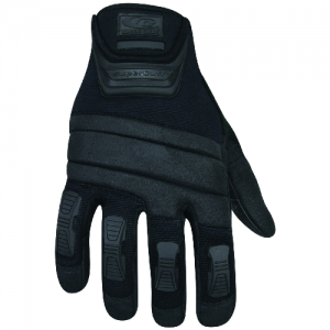 TACTICAL HD GLOVES MEDIUM  Patented SuperCuff technology ensures perfect fit at the wrist without limiting Range of Motion. A Ringers Exclusive. Direct inject TPR (Thermal Plastic Rubber) finger panels for extreme protection. Kevlar palm panels with anato