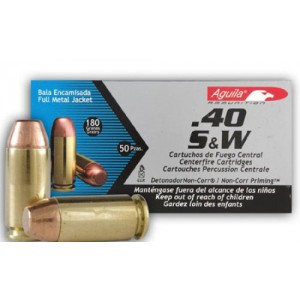 Aguila .40 S&W Full Metal Jacket, 180 Grain (50 Rounds) - 1E402110