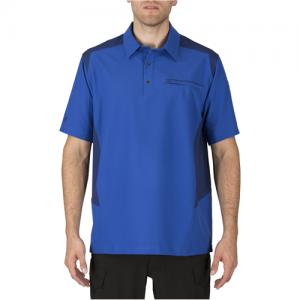 5.11 Tactical Freedom Flex Men's Short Sleeve Polo in Marina - Medium