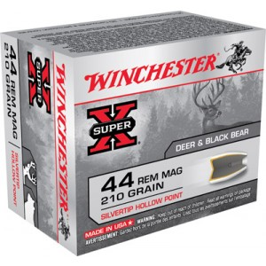 Winchester Super-X .44 Remington Magnum Silvertip HP, 210 Grain (20 Rounds) - X44MS