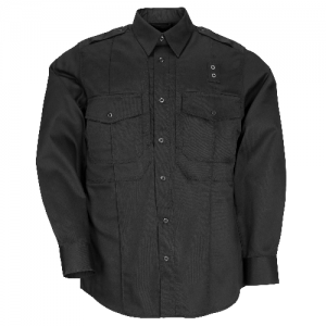 5.11 Tactical PDU Class B Men's Long Sleeve Uniform Shirt in Black - Large