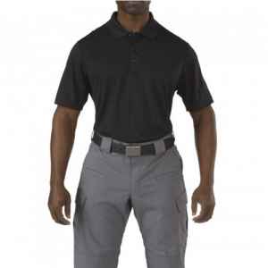 5.11 Tactical Corporate Pinnacle Men's Short Sleeve Polo in Black - Large