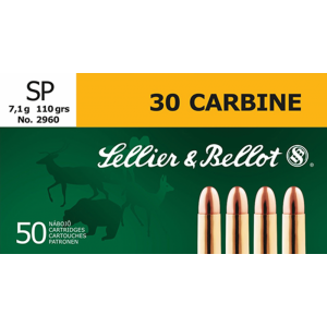 Magtech Ammunition .30 Carbine Soft Point, 110 Grain (50 Rounds) - SB30B