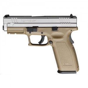 "Springfield XD Service .45 ACP 13+1 4"" Pistol in Dark Earth Tan/Stainless - XD9163HCSP06"