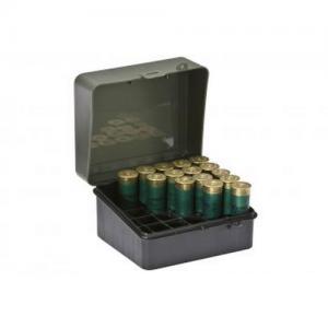 Shot Shell Box-3.5  12 Gauge  OD Green/Blk w/Padlock Detail
