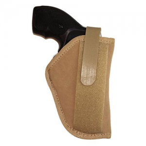 Uncle Mike's Body Armour Ambidextrous-Hand Belly Holster for Sub-Compact Autos in Brown - 87452