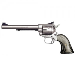 """Heritage Rough Rider Small Bore .22 Long Rifle 6-Shot 6.5"""" Revolver in Silver Satin - RR22MS6AS"""