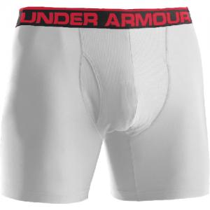 """Under Armour BoxerJock 6"""" Men's Underwear in White - Small"""